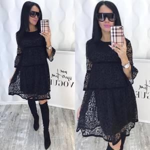 Платье короткое с рукавом 3/4 современное Ф6381