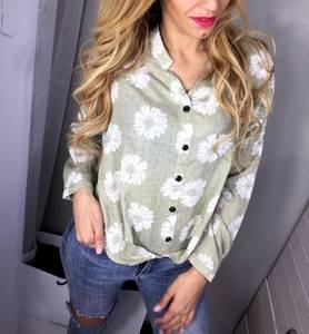 Рубашка с коротким рукавом с принтом Х1767