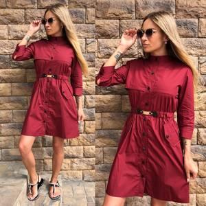 Платье короткое однотонное современное Т9601