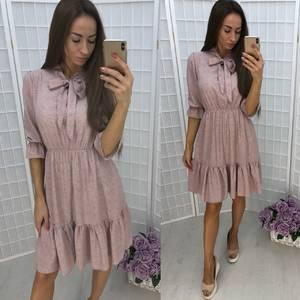 Платье нарядное с принтом короткое Т9939