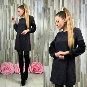 Платье короткое трикотажное классическое У9077