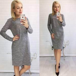 Платье короткое трикотажное однотонное У9398