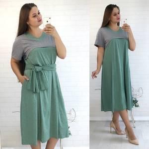 Платье длинное с коротким рукавом повседневное У9483
