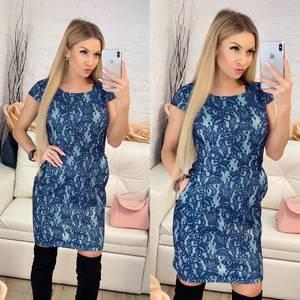 Платье короткое нарядное облегающее Ф9508