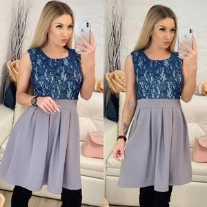Платье короткое коктейльное с принтом Ф9510