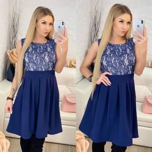 Платье короткое коктейльное с принтом Ф9511