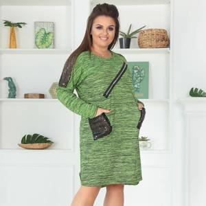Платье короткое нарядное зеленое Ф5431