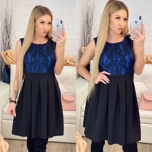 Платье короткое коктейльное с принтом Ф9513