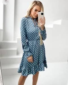 Платье короткое с длинным рукавом А34876