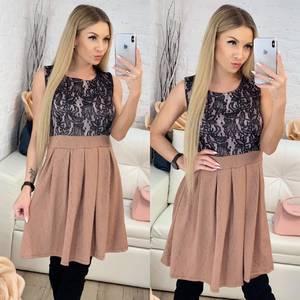 Платье короткое коктейльное с принтом Ф9514