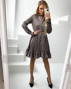 Платье короткое с длинным рукавом А34877