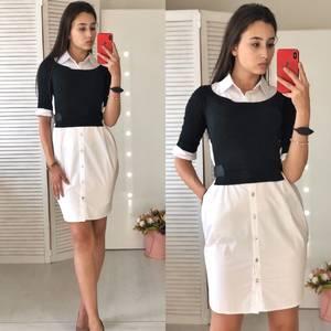 Платье короткое нарядное современное Ф0864