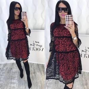 Платье короткое с рукавом 3/4 современное Ф6382