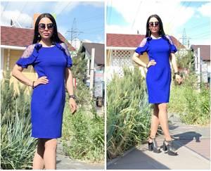 Платье короткое повседневное однотонное Т9503