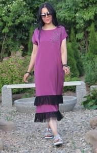 Платье длинное розовое повседневное Т9551