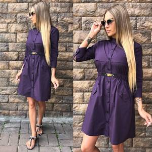 Платье короткое однотонное современное Т9602