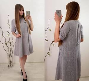 Платье короткое повседневное классическое Т9842
