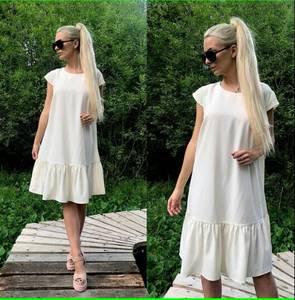 Платье короткое повседневное белое Т9887