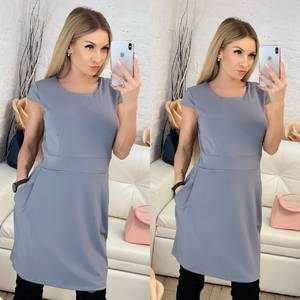 Платье короткое однотонное Ф9517