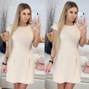 Платье короткое однотонное Ф9518
