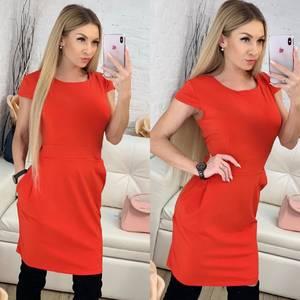 Платье короткое однотонное Ф9519