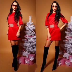 Платье короткое с рукавом 3/4 элегантное Ф5426