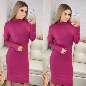 Платье короткое с длинным рукавом Ф9522