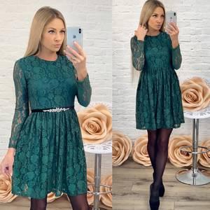 Платье короткое однотонное современное Ф5421