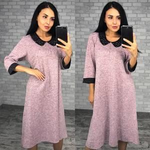 Платье короткое трикотажное однотонное Ф0991