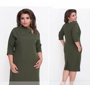 Платье короткое нарядное зеленое Ф1485