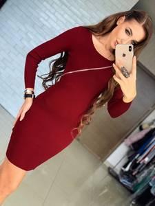 Платье короткое с длинным рукавом облегающее Ф6010