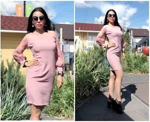 Платье короткое нарядное облегающее Т9504