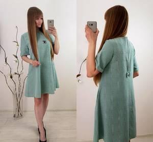 Платье короткое повседневное классическое Т9843