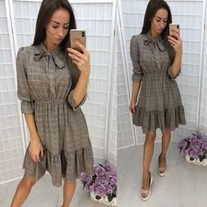 Платье короткое нарядное с принтом Т9941
