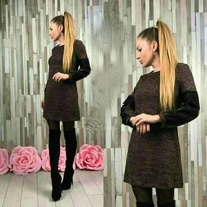 Платье короткое трикотажное современное У9079
