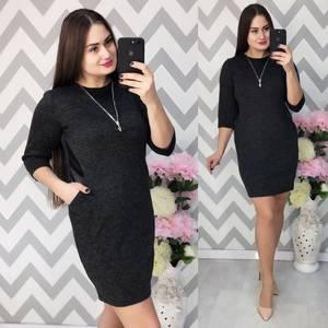 Платье короткое трикотажное Ф5339