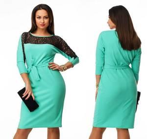 Платье короткое нарядное голубое Ф5412
