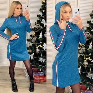 Платье короткое с длинным рукавом повседневное Ф7139
