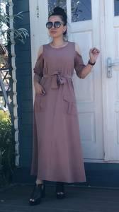 Платье длинное однотонное нарядное Т9513