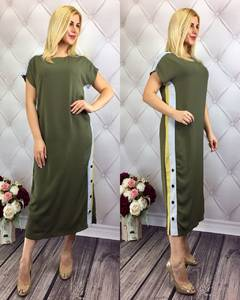 Платье длинное зеленое летнее Т9774