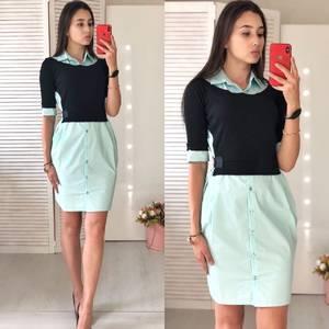 Платье короткое нарядное современное Ф0866