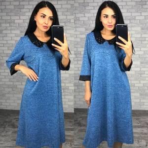 Платье короткое трикотажное однотонное Ф0992