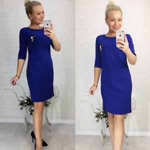 Платье короткое облегающее синее Ф1990