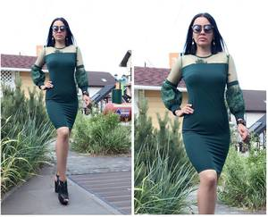 Платье короткое нарядное облегающее Т9506