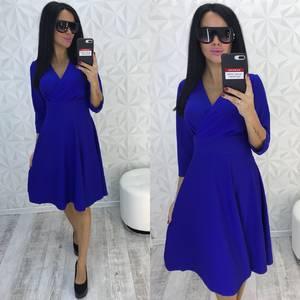 Платье короткое нарядное синее У9347