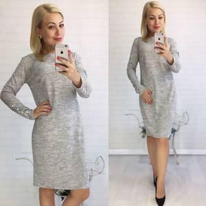 Платье короткое трикотажное однотонное У9402