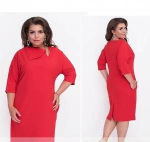 Платье короткое нарядное красное Ф1487