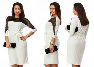 Платье короткое нарядное белое Ф5411