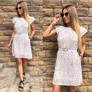 Платье короткое с принтом летнее У8971