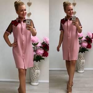 Платье короткое повседневное современное У9091
